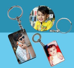 eStuffz® Customize Personalized Own Photo Wooden MDF Key Chain (Both Side Printed)