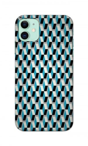 For Apple iPhone 11 Printed Mobile Case Back Cover Pouch (Diamonds Pattern)