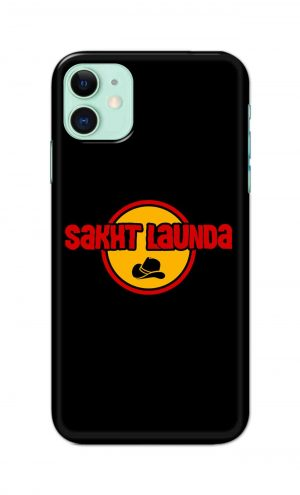 For Apple iPhone 11 Printed Mobile Case Back Cover Pouch (Sakht Launda)
