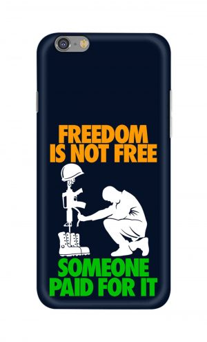 For Apple iPhone 6 6s Printed Mobile Case Back Cover Pouch (Freedom Is Not Free)