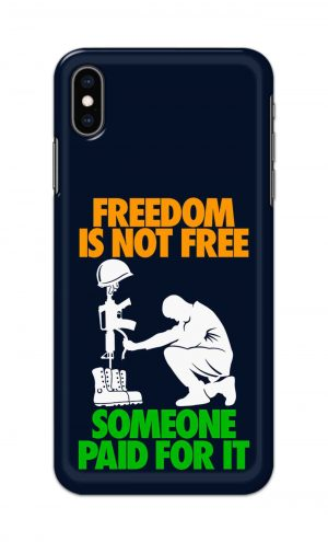 For Apple iPhone XS Max Printed Mobile Case Back Cover Pouch (Freedom Is Not Free)