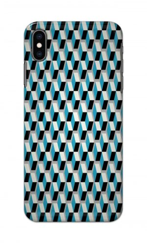 For Apple iPhone XS Max Printed Mobile Case Back Cover Pouch (Diamonds Pattern)