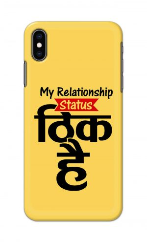 For Apple iPhone XS Max Printed Mobile Case Back Cover Pouch (My Relationship Status)