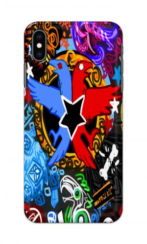 For Apple iPhone XS Max Printed Mobile Case Back Cover Pouch (Colorful Eagle)