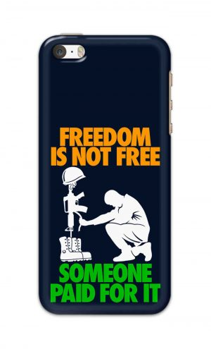 For Apple iPhone 5c Printed Mobile Case Back Cover Pouch (Freedom Is Not Free)