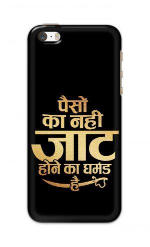 For Apple iPhone 5c Printed Mobile Case Back Cover Pouch (Paison Ka Nahi Jaat Hone Ka Ghamand Hai)