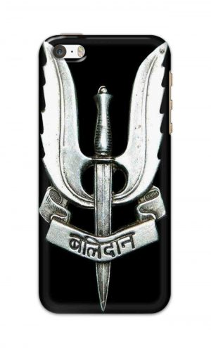 For Apple iPhone 5 5s Printed Mobile Case Back Cover Pouch (Indian Army Camouflage Balidan Badge)
