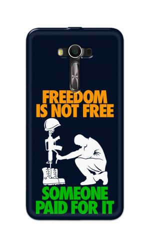 For Asus Zenfone 2 Laser ZE550KL Printed Mobile Case Back Cover Pouch (Freedom Is Not Free)