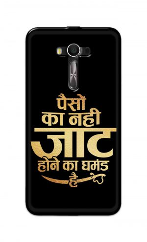 For Asus Zenfone 2 Laser ZE550KL Printed Mobile Case Back Cover Pouch (Paison Ka Nahi Jaat Hone Ka Ghamand Hai)