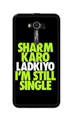 For Asus Zenfone 2 Laser ZE550KL Printed Mobile Case Back Cover Pouch (Sharm Karo Ladkiyon)