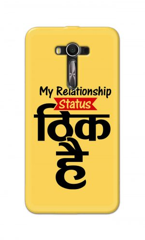 For Asus Zenfone 2 Laser ZE550KL Printed Mobile Case Back Cover Pouch (My Relationship Status)