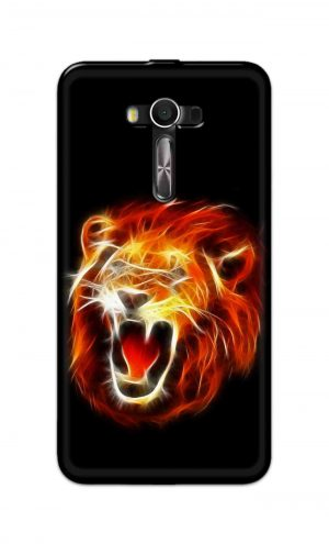 For Asus Zenfone 2 Laser ZE550KL Printed Mobile Case Back Cover Pouch (Lion Fire)
