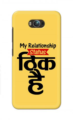 For Asus Zenfone Max Printed Mobile Case Back Cover Pouch (My Relationship Status)