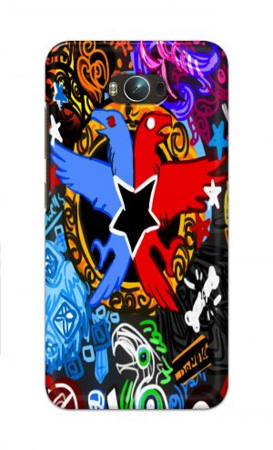 For Asus Zenfone Max Printed Mobile Case Back Cover Pouch (Colorful Eagle)