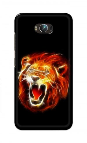 For Asus Zenfone Max Printed Mobile Case Back Cover Pouch (Lion Fire)