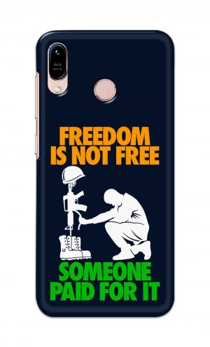 For Asus Zenfone Max M1 Printed Mobile Case Back Cover Pouch (Freedom Is Not Free)