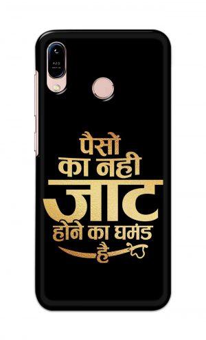 For Asus Zenfone Max M1 Printed Mobile Case Back Cover Pouch (Paison Ka Nahi Jaat Hone Ka Ghamand Hai)