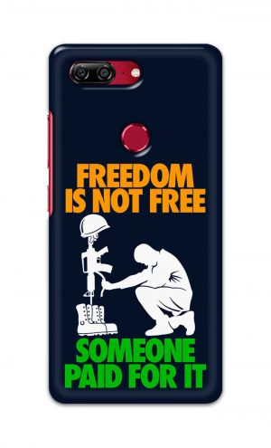 For Gionee M7 Printed Mobile Case Back Cover Pouch (Freedom Is Not Free)