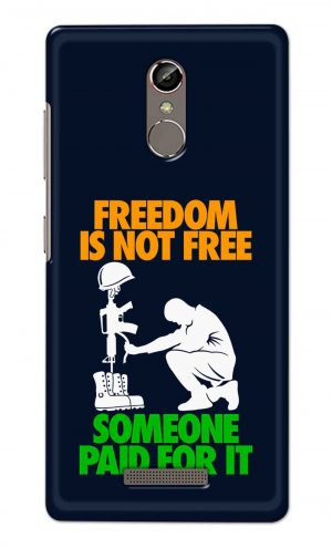 For Gionee S6S Printed Mobile Case Back Cover Pouch (Freedom Is Not Free)