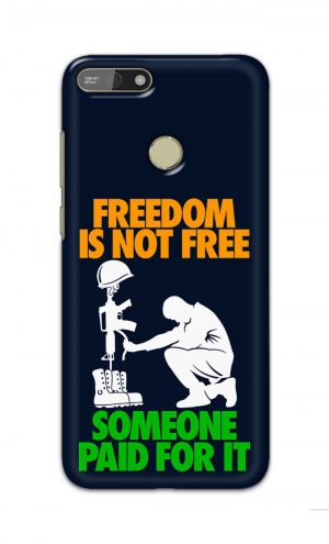 For Huawei Honor 7A Printed Mobile Case Back Cover Pouch (Freedom Is Not Free)
