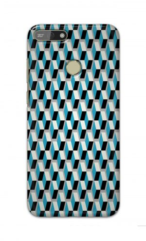 For Huawei Honor 7A Printed Mobile Case Back Cover Pouch (Diamonds Pattern)