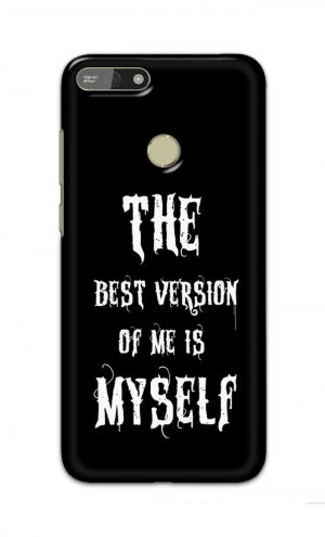 For Huawei Honor 7A Printed Mobile Case Back Cover Pouch (The Best Version Of Me)