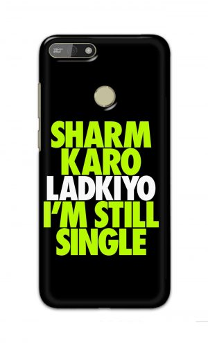 For Huawei Honor 7A Printed Mobile Case Back Cover Pouch (Sharm Karo Ladkiyon)