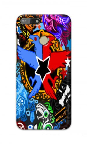 For Huawei Honor 7A Printed Mobile Case Back Cover Pouch (Colorful Eagle)