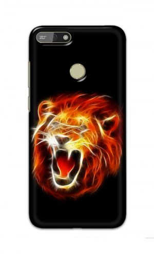 For Huawei Honor 7A Printed Mobile Case Back Cover Pouch (Lion Fire)