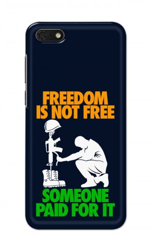 For Huawei Honor 7s Printed Mobile Case Back Cover Pouch (Freedom Is Not Free)