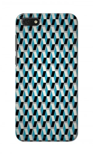 For Huawei Honor 7s Printed Mobile Case Back Cover Pouch (Diamonds Pattern)