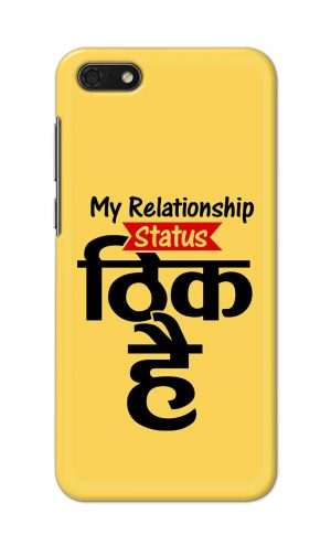 For Huawei Honor 7s Printed Mobile Case Back Cover Pouch (My Relationship Status)