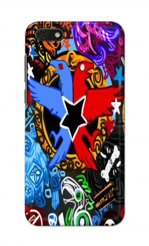 For Huawei Honor 7s Printed Mobile Case Back Cover Pouch (Colorful Eagle)