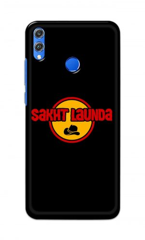 For Huawei Honor 8X Printed Mobile Case Back Cover Pouch (Sakht Launda)