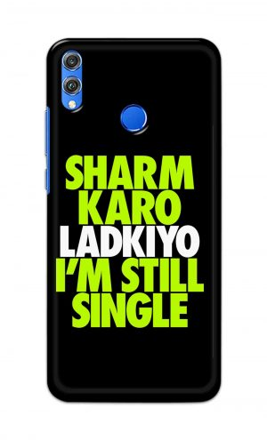 For Huawei Honor 8X Printed Mobile Case Back Cover Pouch (Sharm Karo Ladkiyon)