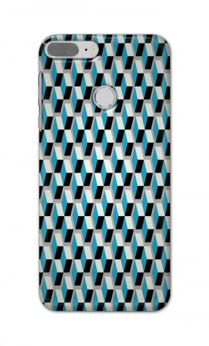 For Huawei Honor 9 Lite Printed Mobile Case Back Cover Pouch (Diamonds Pattern)