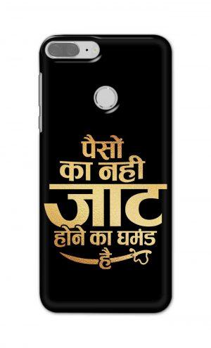 For Huawei Honor 9 Lite Printed Mobile Case Back Cover Pouch (Paison Ka Nahi Jaat Hone Ka Ghamand Hai)
