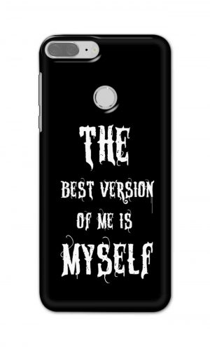 For Huawei Honor 9 Lite Printed Mobile Case Back Cover Pouch (The Best Version Of Me)