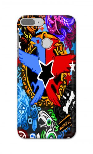 For Huawei Honor 9 Lite Printed Mobile Case Back Cover Pouch (Colorful Eagle)