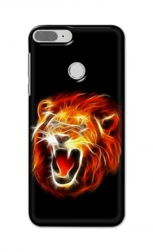 For Huawei Honor 9 Lite Printed Mobile Case Back Cover Pouch (Lion Fire)