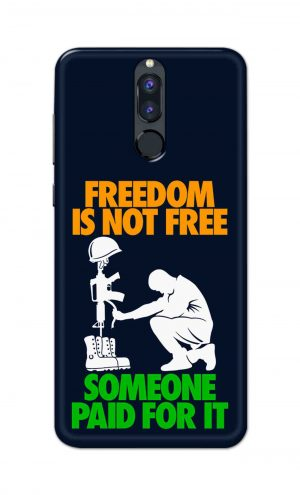 For Huawei Honor 9i Printed Mobile Case Back Cover Pouch (Freedom Is Not Free)