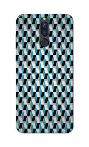 For Huawei Honor 9i Printed Mobile Case Back Cover Pouch (Diamonds Pattern)
