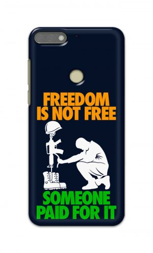 For Huawei Honor 7C Printed Mobile Case Back Cover Pouch (Freedom Is Not Free)
