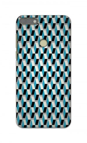 For Huawei Honor 7C Printed Mobile Case Back Cover Pouch (Diamonds Pattern)