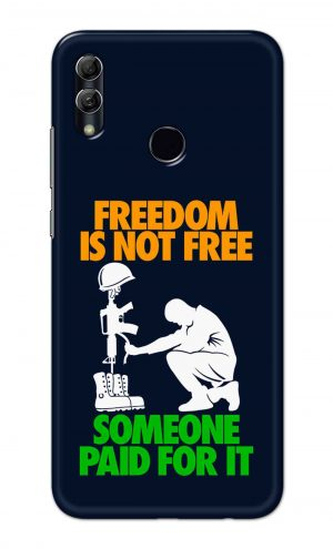 For Huawei Honor 10 Lite Printed Mobile Case Back Cover Pouch (Freedom Is Not Free)