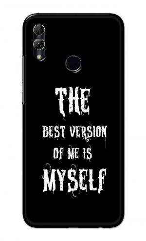 For Huawei Honor 10 Lite Printed Mobile Case Back Cover Pouch (The Best Version Of Me)