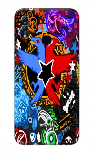 For Huawei Honor 10 Lite Printed Mobile Case Back Cover Pouch (Colorful Eagle)