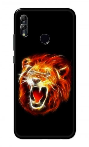 For Huawei Honor 10 Lite Printed Mobile Case Back Cover Pouch (Lion Fire)