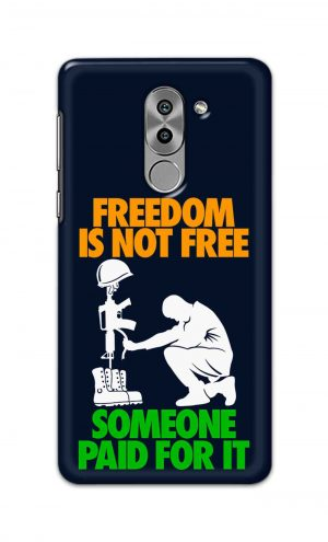 For Huawei Honor 6X Printed Mobile Case Back Cover Pouch (Freedom Is Not Free)