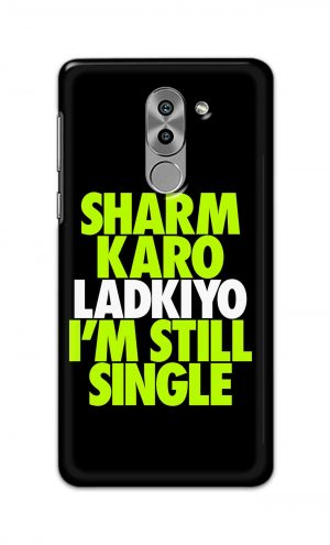 For Huawei Honor 6X Printed Mobile Case Back Cover Pouch (Sharm Karo Ladkiyon)